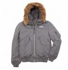 Куртка 45 Hooded X (Alpha) gun metal L / демисезон