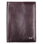 Обложка кожаная №004 на паспорт т.коричневая